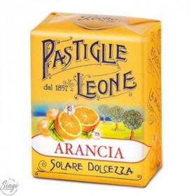 PASTILLES CARTON ORANGE LEONE 30GR